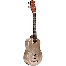 Gold Tone Left-Handed Tenor-Scale Metal Body Resonator Ukulele with Gig Bag