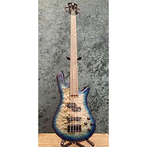 Spector Legend 4 Neck Through Electric Bass Guitar Trans Blue