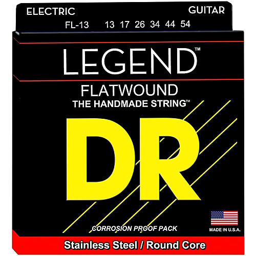 DR Strings Legend Medium Flatwound Electric Guitar Strings