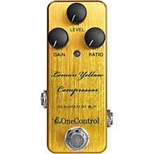 One Control Lemon Yellow Compressor Effects Pedal