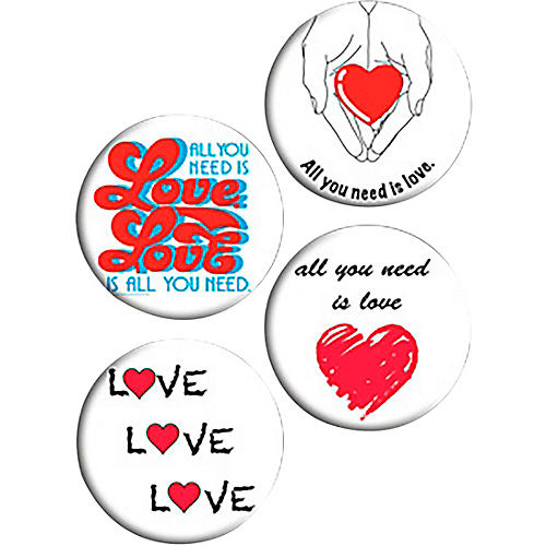 C&D Visionary Lennon & McCartney All You Need Is Love Button Set