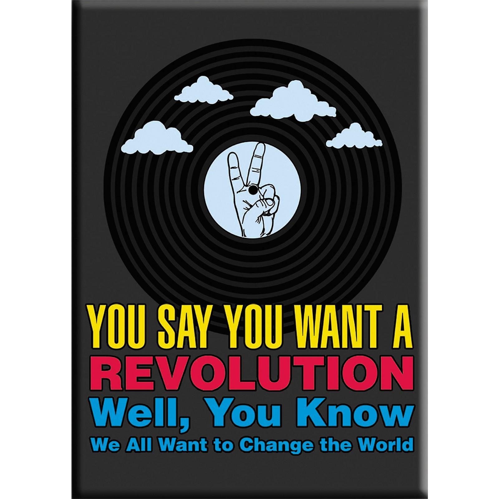 C&D Visionary Lennon & McCartney Revolution Magnet