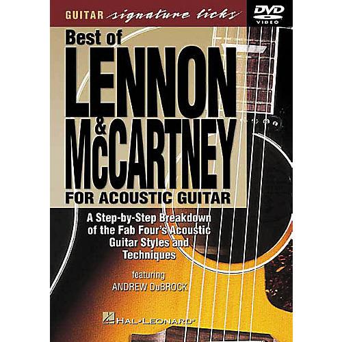 Hal Leonard Lennon and McCartney for Acoustic Guitar DVD
