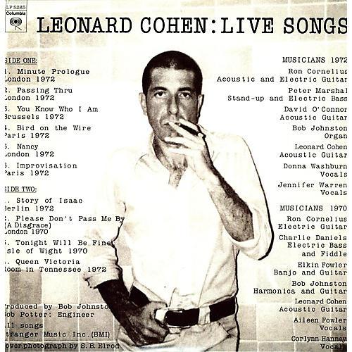 Alliance Leonard Cohen - Live Songs