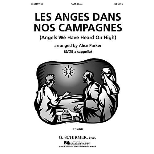 G. Schirmer Les Anges Dans Nos Campagnes (SSATB a cappella) SSATB A Cappella