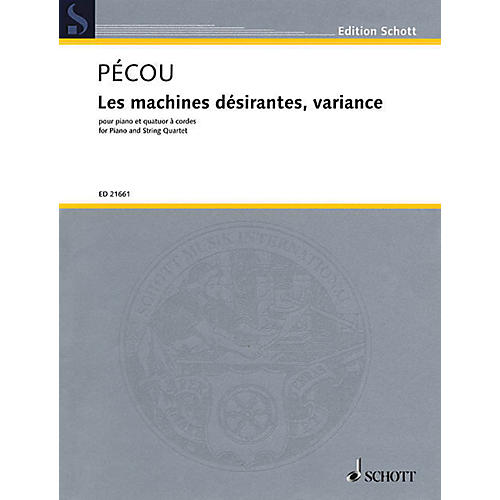 Hal Leonard Les Machines Desirantes, Variance For Piano And String Quartet, Score And Parts Ensemble Series Softcover