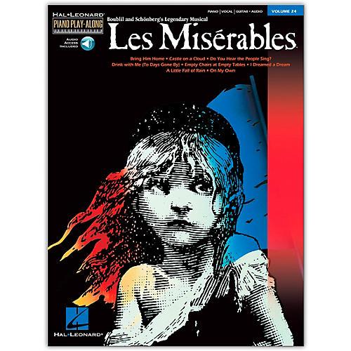 Hal Leonard Les Miserables Volume 24  Piano Play-Along (Book/Online Audio)