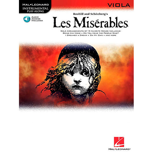 Hal Leonard Les Miserables for Viola - Instrumental Play-Along Book/CD