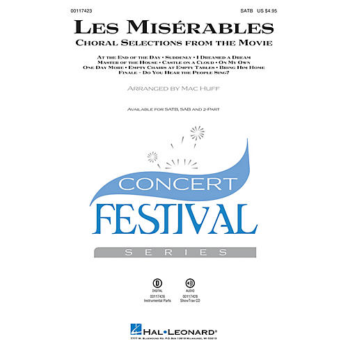 Hal Leonard Les Misérables (Choral Selections from the Movie) 2-Part Arranged by Mac Huff