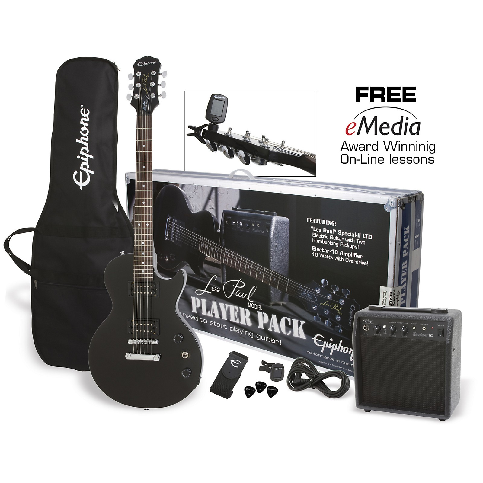 Epiphone Les Paul Electric Guitar Player Pack