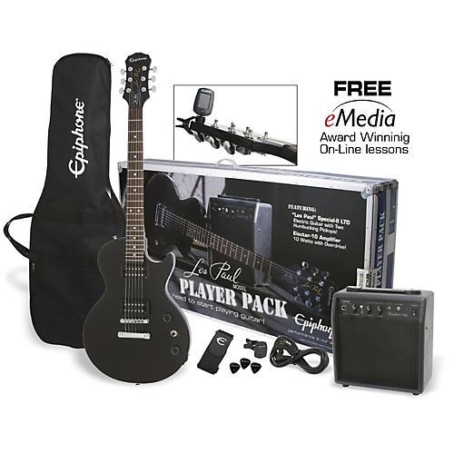 Epiphone Les Paul Electric Guitar Player Pack Ebony