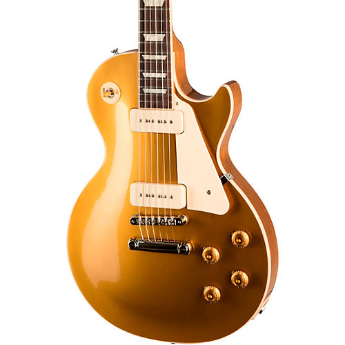 gibson les paul standard 39 50s p 90 electric guitar gold top musician 39 s friend. Black Bedroom Furniture Sets. Home Design Ideas