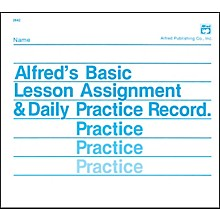 Alfred Lesson Assignment & Daily Practice Record