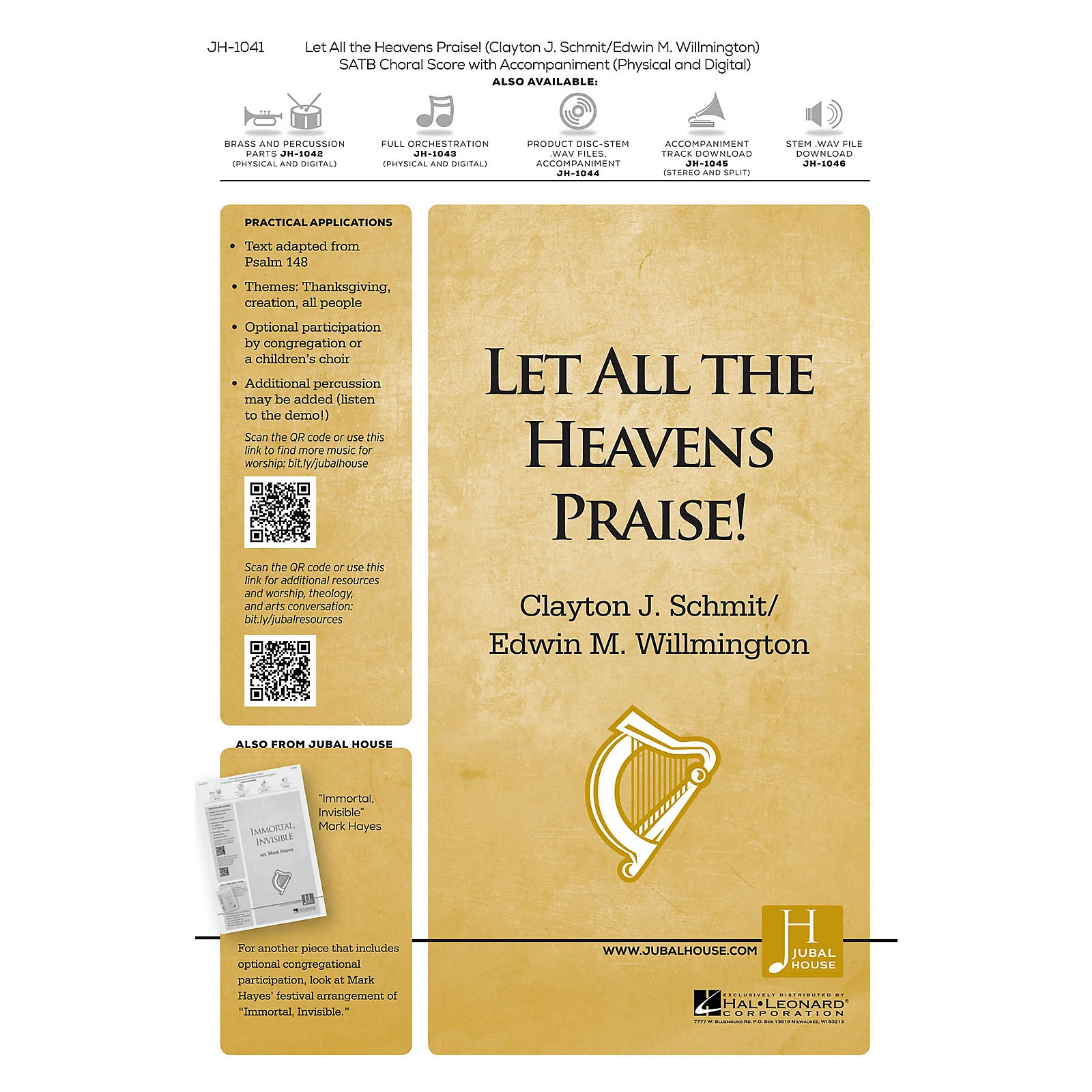 Jubal House Publications Let All the Heavens Praise! BRASS/PERCUSSION PARTS Composed by Clayton J. Schmit