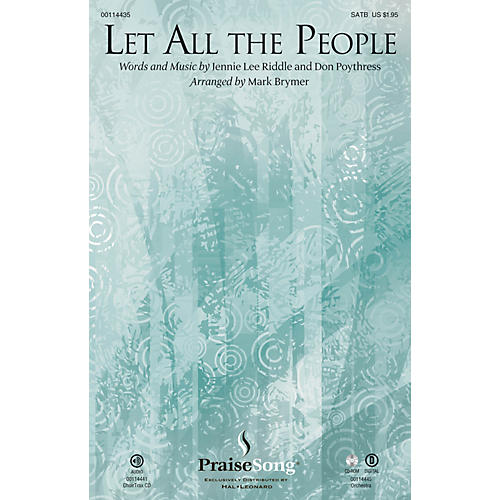 PraiseSong Let All the People CHOIRTRAX CD Arranged by Mark Brymer