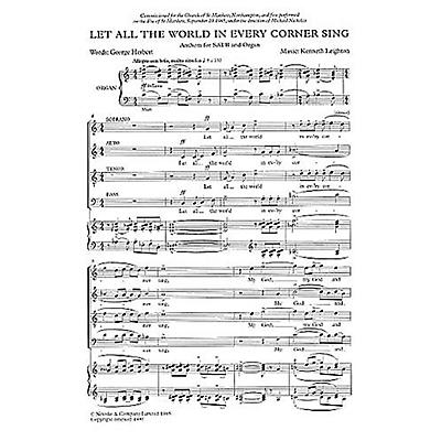 Music Sales Let All the World in Every Corner Sing SATB Composed by Kenneth Leighton