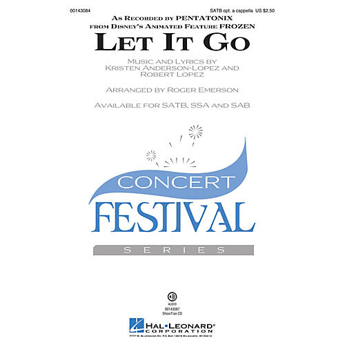 Hal Leonard Let It Go (from Frozen) ShowTrax CD by Pentatonix Arranged by Roger Emerson