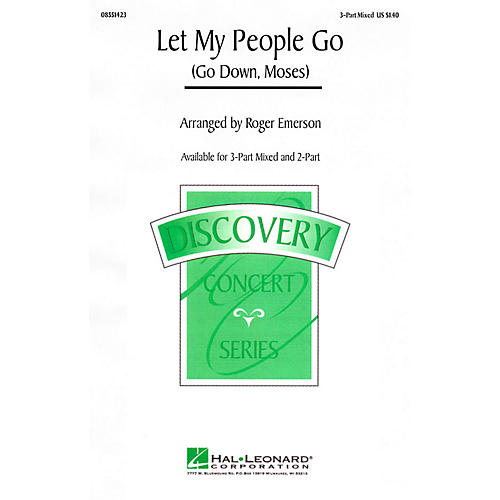 Hal Leonard Let My People Go (Go Down, Moses) 3-Part Mixed arranged by Roger Emerson