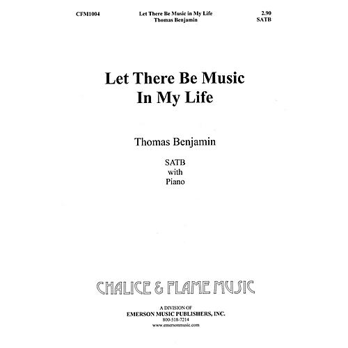 Fred Bock Music Let There Be Music SATB composed by Tom Benjamin