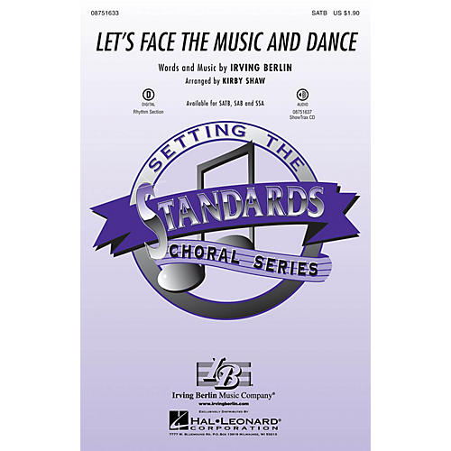 Hal Leonard Let's Face the Music and Dance SATB arranged by Kirby Shaw