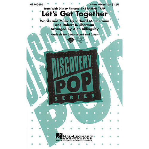Hal Leonard Let's Get Together (from The Parent Trap) ShowTrax CD Arranged by Alan Billingsley