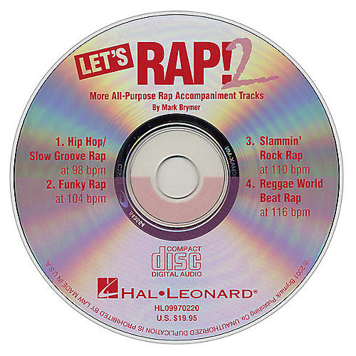 Hal Leonard Let's Rap! 2 (All-Purpose Rap Accompaniments) CD ACCOMP Composed by Mark Brymer