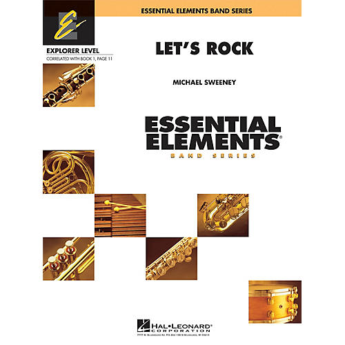 Hal Leonard Let's Rock Concert Band Level 0.5 Composed by Michael Sweeney
