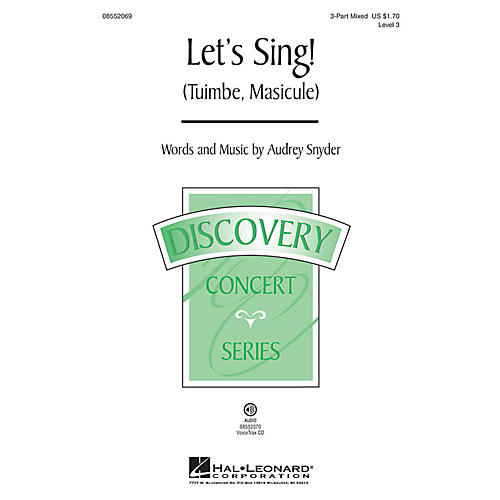 Hal Leonard Let's Sing (Tuimbe, Masicule) Discovery Level 3 3-Part Mixed composed by Audrey Snyder