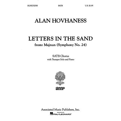 G. Schirmer Letters In The Sand From Majnun Symph 24 With Trumpet Solo And Piano SATB composed by A Hovhaness