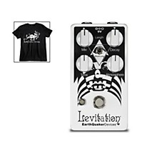 EarthQuaker Devices Levitation V2 Reverb Effects Pedal and Octoskull T-Shirt Large Black