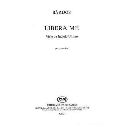 Editio Musica Budapest Libera Me SATB Composed by Lajos Bárdos