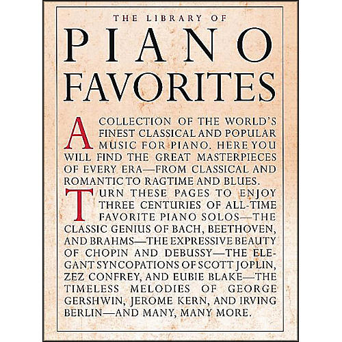Music Sales Library Of Piano Favorites By Appleby
