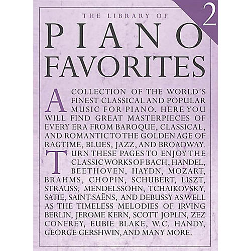 Music Sales Library of Piano Favorites - Volume 2 Music Sales America Series Softcover (Advanced)