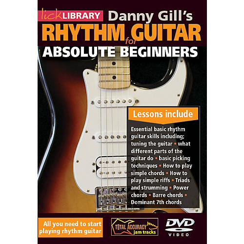 Hal Leonard Lick Library Danny Gill's Rhythm Guitar For Absolute Beginners DVD