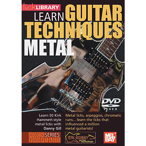 Mel Bay Lick Library Learn Guitar Techniques: Metal Kirk Hammett Style DVD