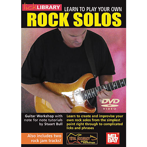 Mel Bay Lick Library Learn To Play Your Own Rock Solos DVD