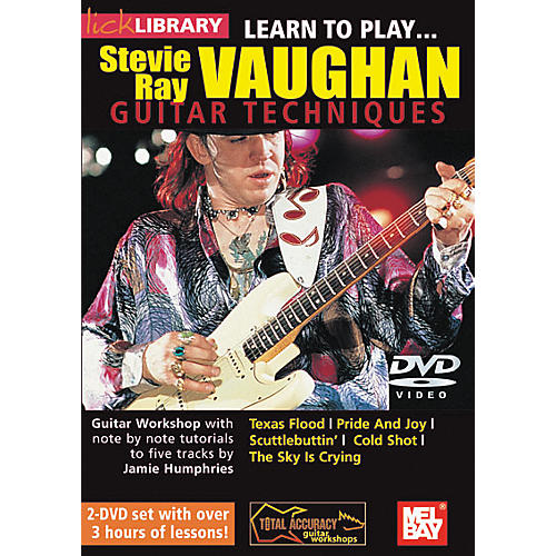 mel bay lick library learn to play stevie ray vaughan guitar techniques volume 1 2 dvd set. Black Bedroom Furniture Sets. Home Design Ideas