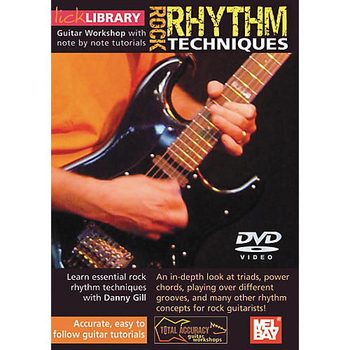 Mel Bay Lick Library Rock Rhythm Techniques DVD