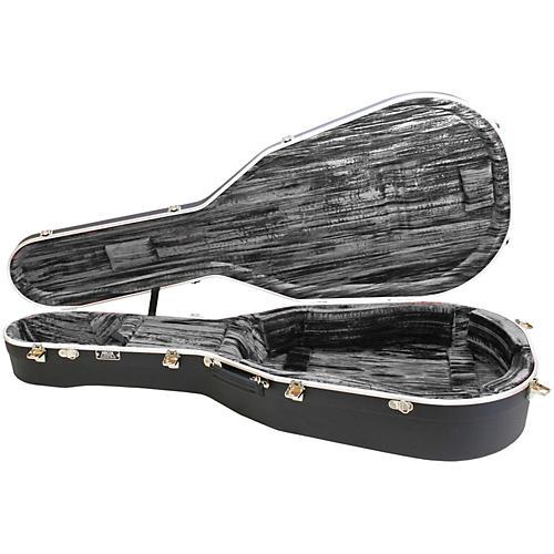 Hiscox Cases Lifelflite Artist Acoustic Guitar Case - Black Shell/Silver Interior