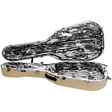 Open Box Hiscox Cases Lifelflite Artist Acoustic Guitar Case - Ivory Shell/Silver Interior