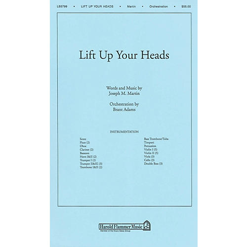 Shawnee Press Lift Up Your Heads (from Journey of Promises) Score & Parts arranged by Brant Adams