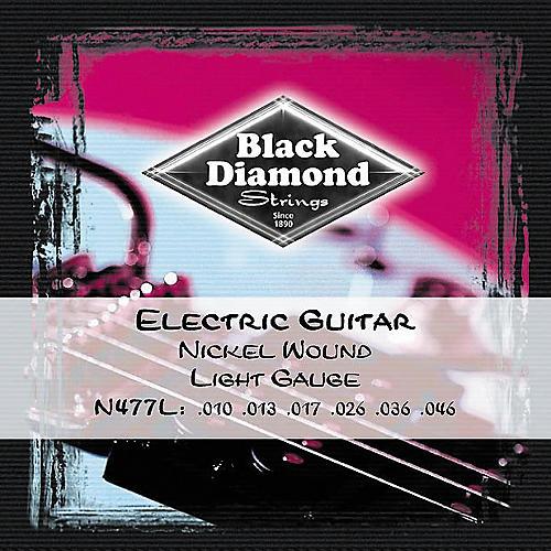 Black Diamond Light Gauge Nickel Wound Electric Guitar Strings