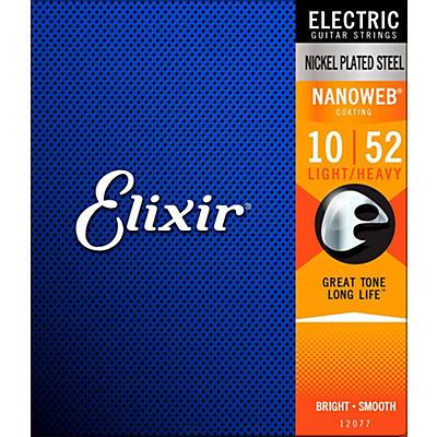 Elixir Light Top/Heavy Bottom Nanoweb Electric Guitar Strings 2 Pack
