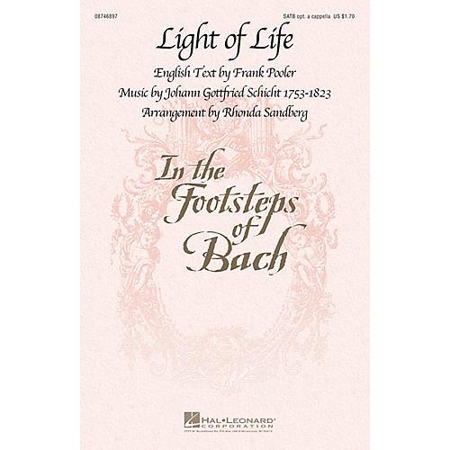 Hal Leonard Light of Life SATB arranged by Rhonda Sandberg