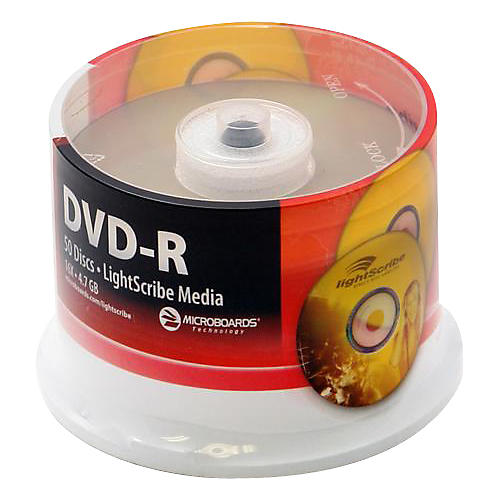 Microboards LightScribe Recordable/Printable DVD-R 16X