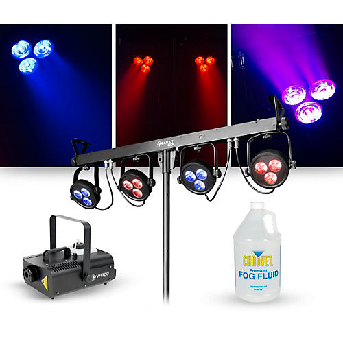 CHAUVET DJ Lighting Package with 4BAR LT USB RGB LED Effect and ADJ VF1300 Fog Machine