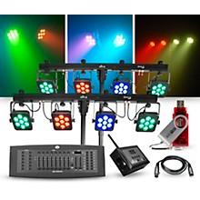 CHAUVET DJ Lighting Package with Two 4BAR Tri USB LED Fixtures, DMX Operator, D-Fi Hub, and D-Fi USB