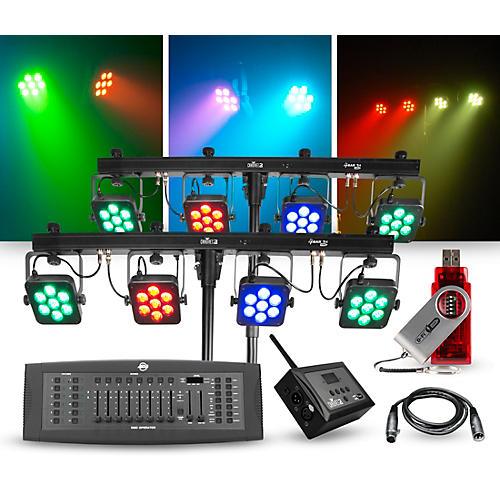 CHAUVET DJ Lighting Package with Two 4BAR Tri USB LED Fixtures, DMX Operator, D-Fi Hub, and D-Fi USB