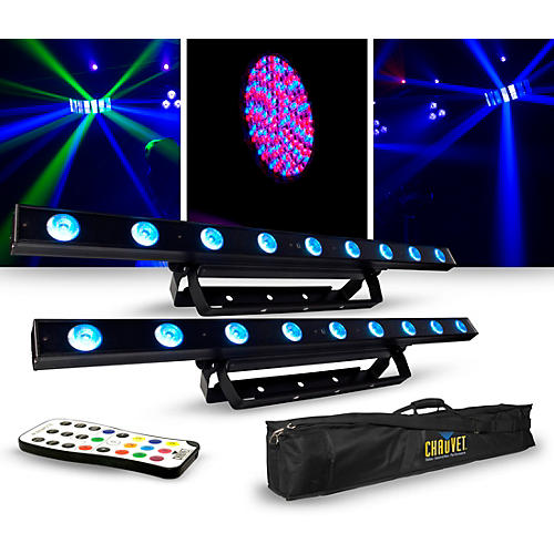 CHAUVET DJ Lighting Package with Two COLORband LED Effect Lights, IRC-6 and D-Fi Controllers