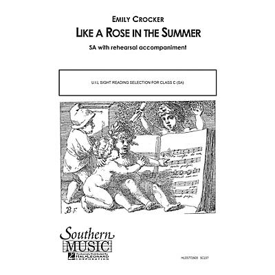 Southern Like a Rose in the Summer SA Composed by Emily Crocker
